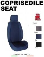 Coprisedili Anteriore in Cotone Extra Resistente per Auto SEAT con AIRbag POLE POSITION 2Pz.