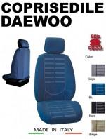 Coprisedili Anteriore in Microfibra Protezione Completa per Auto DAEWOO con AIRbag mod. TECHNO 2Pz.