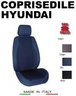 Coprisedili Anteriore in Cotone Extra Resistente per Auto HYUNDAI con AIRbag POLE POSITION 2Pz.