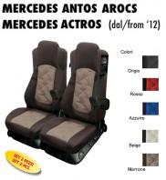 Coprisedili OLD STYLE Ecopelle Trapuntato per Camion Mercedes ANTOS AROCS ACTROS dal 2012 in poi con/senza Sedile SFO