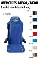 Coprisedile Singolo EXTREME Microfibra per Camion Mercedes ATEGO e AXOR Sedile Comfort