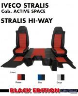 Kit Cabina 2 Coprisedili + Tappeti + Copricofano su Misura per Camion IVECO STRALIS Active Space e Hi-Way