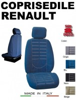 Coprisedili Anteriore in Microfibra Protezione Completa per Auto RENAULT con AIRbag mod. TECHNO 2Pz.