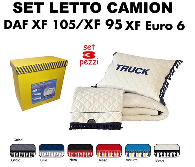 Set da letto su misura per camion daf xf 95 xf 105 xf for Max 4 set letto