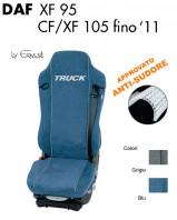 Coprisedile in Microfibra Traspirante AntiSudore AIRTECH per Camion DAF XF95 CF e XF 105 fino al 2011