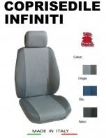 Coprisedili Anteriore Tessuto in Cotone Traspirante per Auto INFINITI con AIRbag mod. PREMIUM 2Pz.