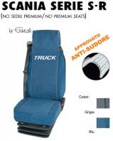 Coprisedili 2 PEZZI in Microfibra Traspirante AntiSudore AIRTECH per Camion SCANIA Serie S - Serie R Restyling