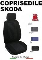 Coprisedili Anteriore Tessuto Imbottito per Auto SKODA con AIRbag TREND 2Pz.