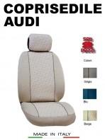 Coprisedili Anteriore in Cotone per Auto AUDI con AIRbag mod. GRIFFE 2Pz.