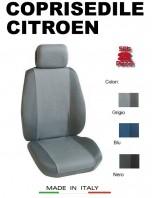 Coprisedili Anteriore Tessuto in Cotone Traspirante per Auto CITROEN con AIRbag mod. PREMIUM 2Pz.