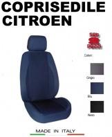 Coprisedili Anteriore in Cotone Extra Resistente per Auto CITROEN con AIRbag POLE POSITION 2Pz.