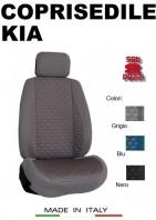 Coprisedili Anteriore Tessuto in Cotone Trapuntato per Auto KIA con AIRbag mod. TURBO 2Pz.