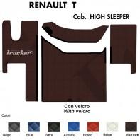 Tappeti su Misura Trucker in Ecopelle per Camion Renault Modello T Cabina High Sleeper