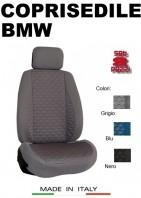 Coprisedili Anteriore Tessuto in Cotone Trapuntato per Auto BMW con AIRbag mod. TURBO 2Pz.