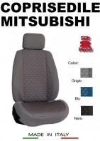 Coprisedili Anteriore Tessuto in Cotone Trapuntato per Auto MITSUBISHI con AIRbag TURBO 2Pz.
