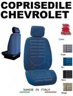 Coprisedili Anteriore in Microfibra Protezione Completa per Auto CHEVROLET con AIRbag mod. TECHNO 2Pz.