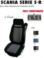 Coprisedile in Microfibra Traspirante 3D AntiSudore AIRPLUS per Camion SCANIA Serie S - Serie R Restyling