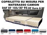 Copriletto su Misura per Materasso Cabina Camion DAF XF 95, XF 105, XF Euro6