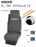 Coprisedile in Microfibra Traspirante AntiSudore AIRTECH per Camion VOLVO FL FM FH fino al 2012