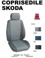 Coprisedili Anteriore Tessuto in Cotone Traspirante per Auto SKODA con AIRbag mod. PREMIUM 2Pz.