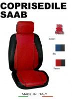 Coprisedili Anteriore Sedile Sportivo in Tessuto Traforato per Auto SAAB con AIRbag CHRONO 2Pz.