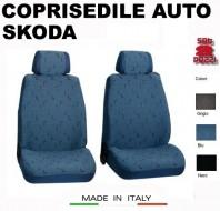Fodere Coprisedile Anteriori in Cotone per Auto SKODA 2Pz.