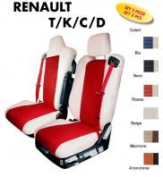 Coprisedili BEST in Ecopelle per Camion Renault T K C D dal 2013 in poi con un poggiatesta staccato e uno integrato al sedille
