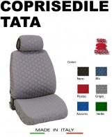 Coprisedili Anteriore in Cotone Trapuntato Super Resistente per Auto TATA con AIRbag mod. SPEED 2Pz.