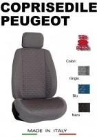 Coprisedili Anteriore Tessuto in Cotone Trapuntato per Auto PEUGEOT con AIRbag mod. TURBO 2Pz.