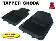 Tappeti Anteriori in Gomma COMFORT per Auto SKODA