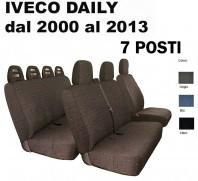 Coprisedili Furgone 7 Posti Anteriore + Posteriore IVECO Daily dal 2000 al 2013