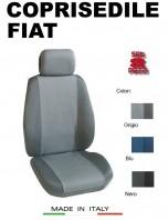 Coprisedili Anteriore Tessuto in Cotone Traspirante per Auto FIAT con AIRbag mod. PREMIUM 2Pz.