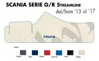 Copricruscotto Copertura Cruscotto su misura per Camion SCANIA Serie G - R Streamline dal 2013 al 2017
