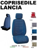 Coprisedili Anteriore in Microfibra Protezione Completa per Auto LANCIA con AIRbag TECHNO 2Pz.