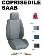 Coprisedili Anteriore Tessuto in Cotone Traspirante per Auto SAAB con AIRbag mod. PREMIUM 2Pz.