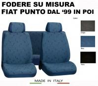 Coprisedili Set Completo in Cotone per FIAT Punto dal 1999 in poi