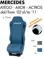 Coprisedile in Microfibra Traspirante AntiSudore AIRTECH per Camion Mercedes ATEGO AXOR ACTROS dal 2002 al 2011