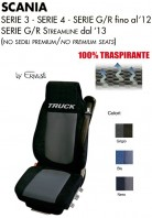 Coprisedile in Microfibra Traspirante 3D AntiSudore AIRPLUS per Camion SCANIA Serie 3 Serie 4 Serie G e R