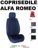 Coprisedili Anteriore in Cotone Extra Resistente per Auto ALFA ROMEO con AIRbag POLE POSITION 2Pz.