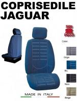 Coprisedili Anteriore in Microfibra Protezione Completa per Auto JAGUAR con AIRbag TECHNO 2Pz.