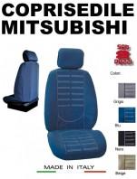 Coprisedili Anteriore in Microfibra Protezione Completa per Auto MITSUBISHI con AIRbag TECHNO 2Pz.