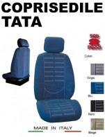 Coprisedili Anteriore in Microfibra Protezione Completa per Auto TATA con AIRbag mod. TECHNO 2Pz.