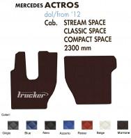 Tappeti su Misura Trucker in Ecopelle per Camion Mercedes ACTROS Cabina Stream Classic Compact Space