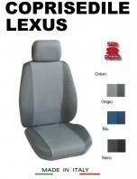 Coprisedili Anteriore Tessuto in Cotone Traspirante per Auto LEXUS con AIRbag mod. PREMIUM 2Pz.