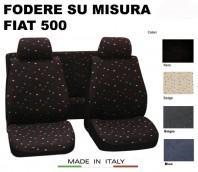 Coprisedili Set Completo in Cotone per FIAT 500 dal 2007 in poi