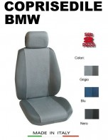 Coprisedili Anteriore Tessuto in Cotone Traspirante per Auto BMW con AIRbag mod. PREMIUM 2Pz.