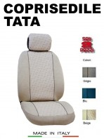 Coprisedili Anteriore in Cotone per Auto TATA con AIRbag mod. GRIFFE 2Pz.
