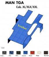 Copricofano Copertura Cofano Trucker Ecopelle su Misura per Camion MAN TGA cabina XL XLX XXL
