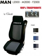 Coprisedile in Microfibra Traspirante 3D AntiSudore AIRPLUS per Camion MAN L2000 M2000 F2000