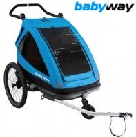Carrello Bici Posteriore Trasporto Bimbi 3 Ruote BRN Baby Way